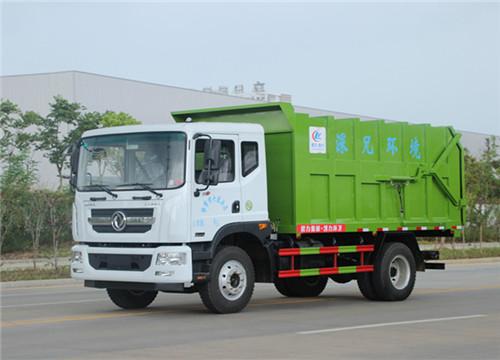 東風D9多利卡15-18方壓縮式對接垃圾車_小壓縮式垃圾車