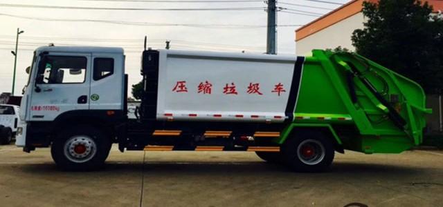 柳州東風中型壓縮垃圾車_瑞沃國五壓縮式垃圾車