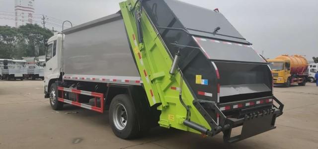 南丰国六后装压缩垃圾车图片_压缩式垃圾车干嘛用的