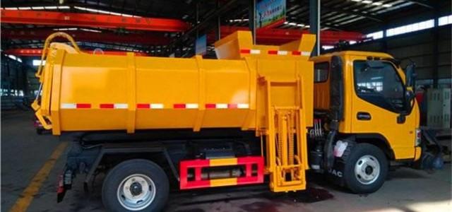 压缩式对接垃圾车 市政环卫生活垃圾密封清运_对接式垃圾车性能特点