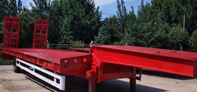 本溪市11米低平板半挂车低价格_半挂平板运输车