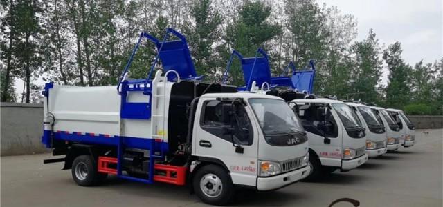兰州福田多功能压缩式对接垃圾车寿命超同行_17方对接式垃圾车