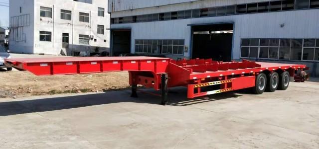 清远市11米低平板半挂车车辆配置参数_垃圾车