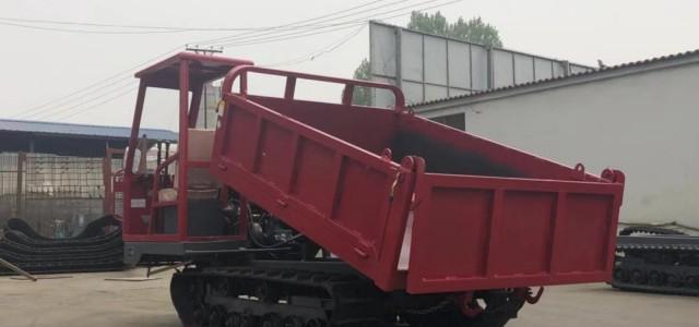 城步橡胶履带翻斗车烂路工程车-机械设备