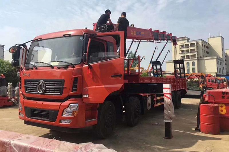 东风天龙前四后八长兴16吨随车吊图片