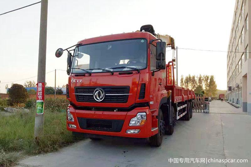 东风天龙14吨徐工随车吊图片