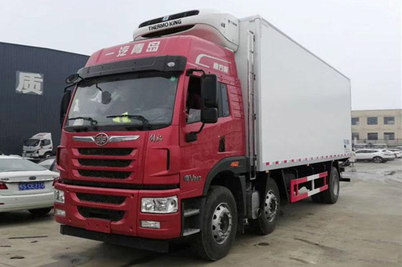 解放7.7米冷藏車 大型冷藏車 第1張